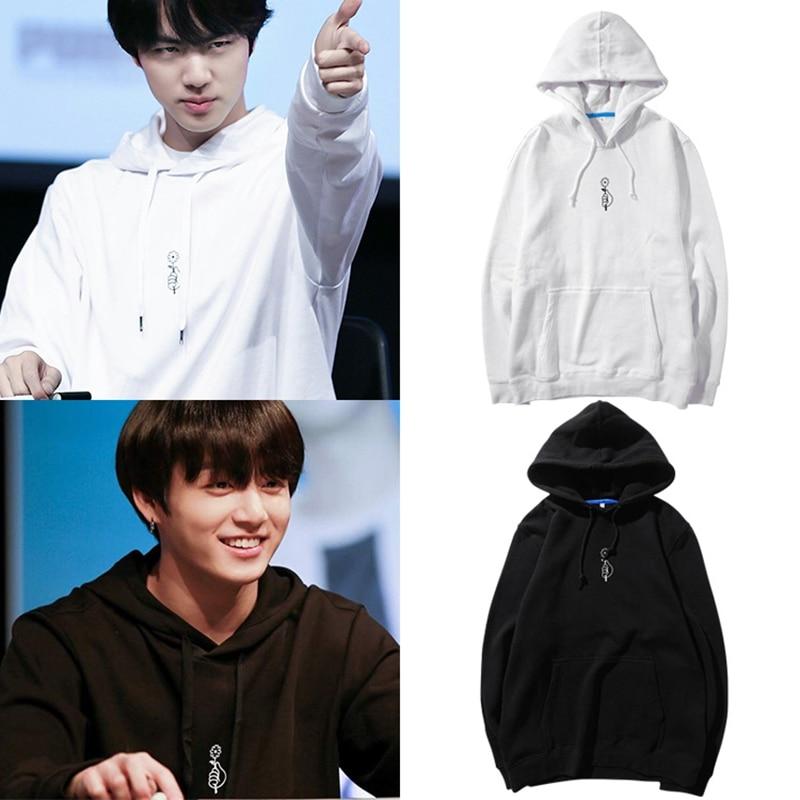 Kpop Bangtan Boys Hoodies Sweatshirt JungKook JIN Pullover Autumn Hoody Long Sleeve Sweatshirts