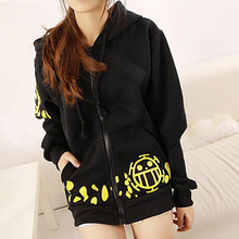 Hot Sale Japanese Anime Cosplay Clothes One Piece Trafalgar Law Costume Black Hoodie Jackets Coat