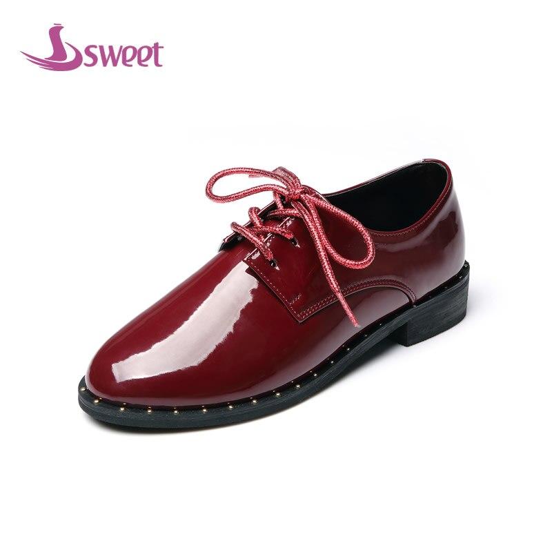Dulces de Marca para mujer zapatos de mujer pisos Primavera/Otoño Básica PU Con