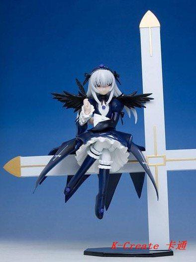 ФОТО  est s Rozen Maiden Mercury Lampe on cross pvc figure toy tall 18cms Suigintou for you choose