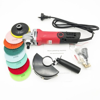 цена на brand new hand variable speed wet polisher grinder for marble granite stone 860w with one lot diamond resin polishing pads