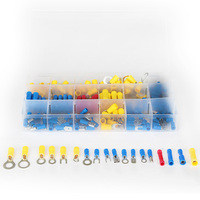 180pcs Red Blue Yellow Crimp Connector Set Assorted Ring Fork Insulated Electrical Wire Terminals 18 Types