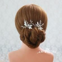Jonnafe Fashion Pearls Women Boddy Pins Silver Color Bridal Hair Piece Pins Handmade Wedding Accessories Hair Jewelry
