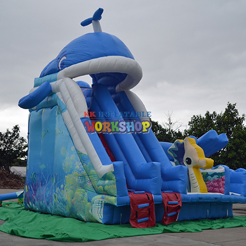 Whale Baby Inflatable Water Slide Source Manufacturer Supply
