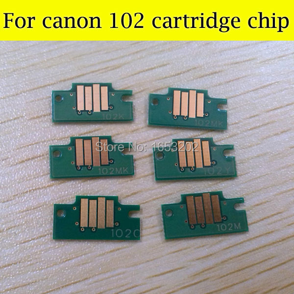 1 Set High Quality Cartridge Chip For Canon PFI-102 ipf500/ipf600/ipf605/ipf700 ipf610/ipf710/ipf720 Cartridge Chips pfi 102 130ml 5 pack compatible ink cartridge for imageprograf ipf605 ipf610 ipf700 ipf710 ipf720 printers