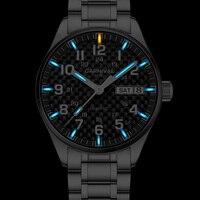 New Carnival Tritium Light mens Watch Quartz Double calendar Date Tritium Luminous Waterproof Military diving Watches C8638G 14