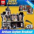 Lepin 07044 1685 unids super hero series el batman asilos establece niños educativos bloques de construcción ladrillos juguetes modelo de regalo 10937