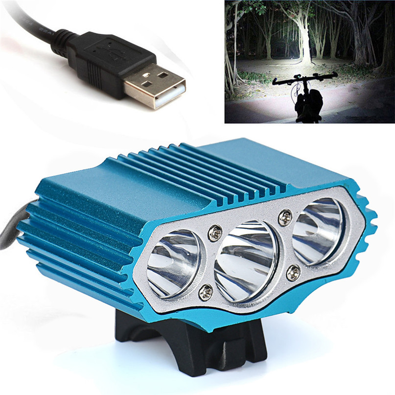 Bicycle Lamp Bike Light Headlight Cycling Torch lantern for a bicycle bike light usb wit ...