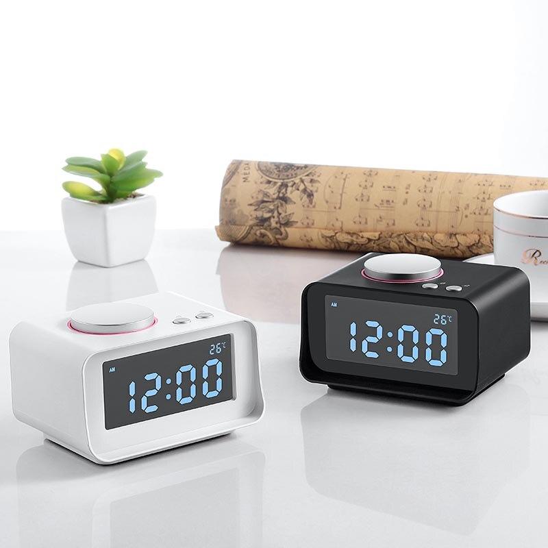 Fashion simple LCD digital alarm clock LCD mute luminous table clock wake up USB charging creative