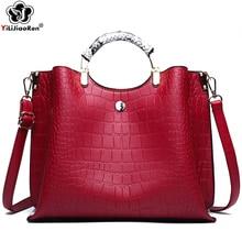 Luxury Crocodile Pattern Women Handbags Brand Leather Crossbody Bags for Fashion Large Capacity Sac A Main 2019