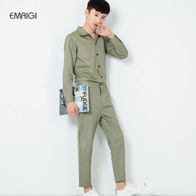Maschio freddo tuta slim fit casual harem hip-hop pantaloni moda tuta mens  tuta a 750851b1ba20