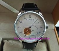 42 MM PARNIS Japanischen Automatische Selbst Wind mechanische bewegung weißes zifferblatt herren uhr Mechanische uhren pa02 8-in Mechanische Uhren aus Uhren bei