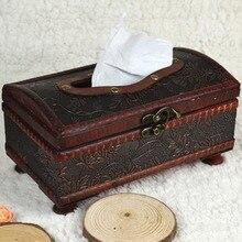 1 шт. Бытовая 21*12*11 см элегантная деревянная антикварная коробка ручной работы старинная коробка для салфеток для ежедневного использования