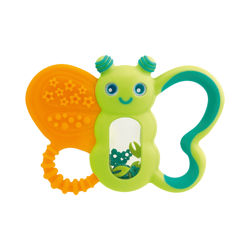 Baby Teether Chicco Funny Relax Butterfly, with a rattle, 6 months + синийцвет 3 6 months