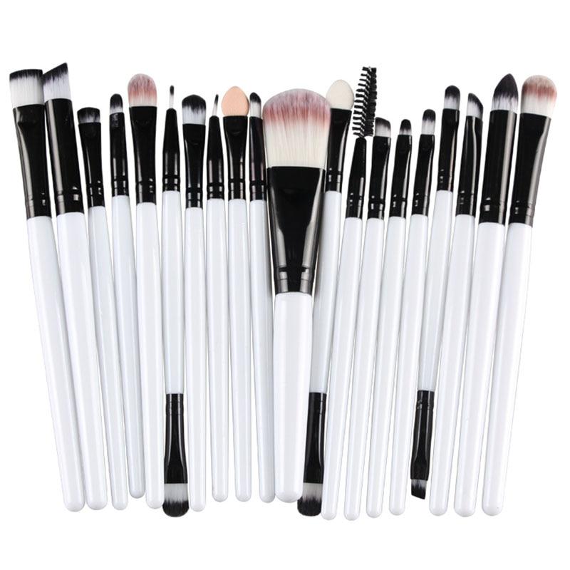20pcs Eyes Brushes Set Eyeshadow Eyebrow Eyelashes Eyeliner Lip Makeup Brush Sponge Smudge Brush Cosmetic pincel maquiagem (20)