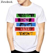 Anime Cowboy Bebop T shirt men women cool fashion rainbow colors cartoon white tshirt summer o-neck short sleeve print tops tee