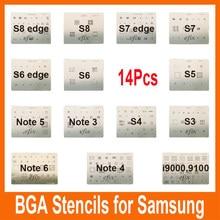 Набор для реболлинга трафаретов efix, 14 шт./лот/комплект, микросхема BGA, сварочный поток для Samsung S8 S7 S6 edge S5 S4 S3 Note 3 4 5 6