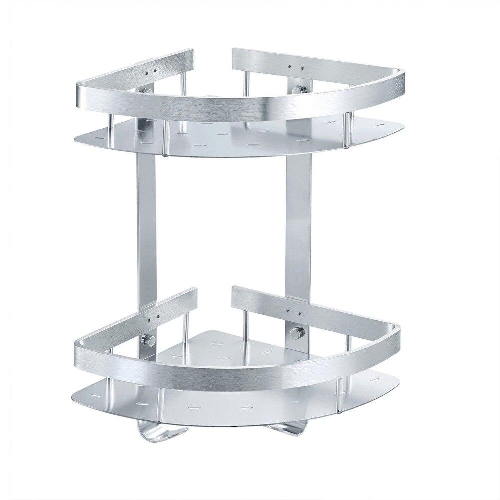 ФОТО Aluminum Corner Bathroom Shelves With Wall Mounted ,Bathroom Accessories Shelf For Free Shipping