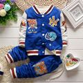 2016 New Baby Clothes Boy Suit Coat + Pants 2pcs / set cartoon jacket casual style suit Kids set Children's Free shipping