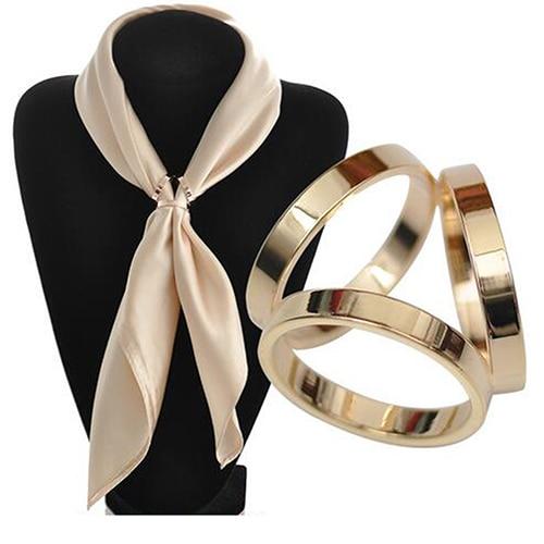 0be08df074d9 Новинка розовый золото трио зажим для шарфа кольцо брошь для шарфа зажимы  для ...