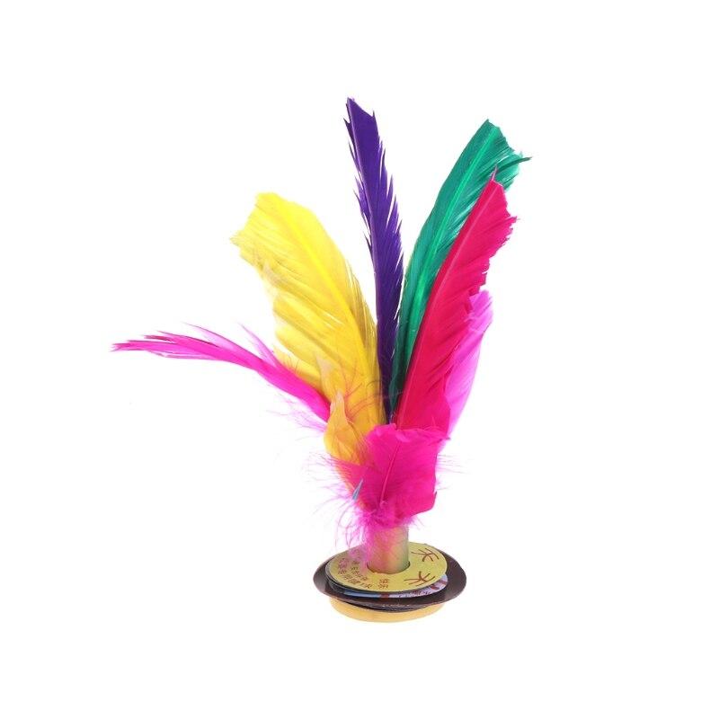 Китай Jianzi Footbal ноги кик маховик Необычные Волан из гусиных перьев фитнес - Цвет: 15cm