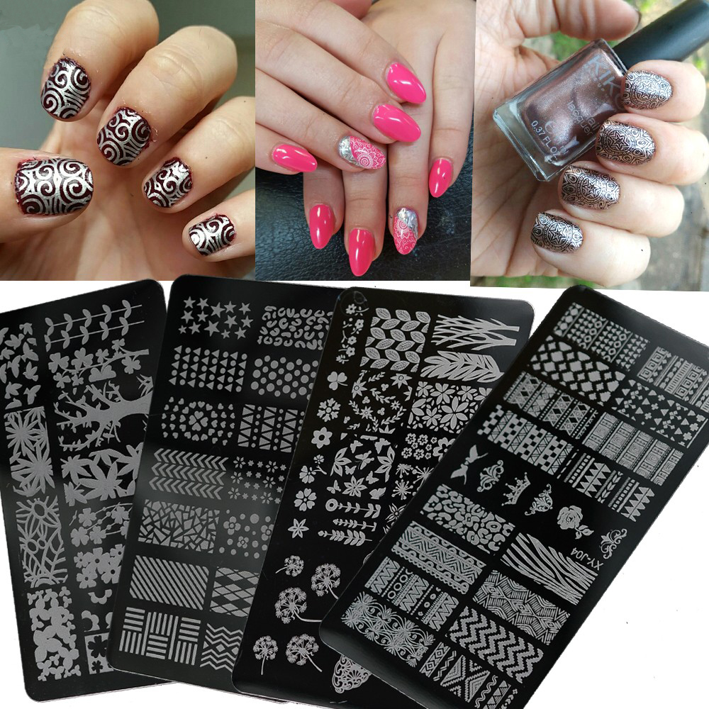 Nail Salon 1pc High Quality Stainless Round Lace Nail Art