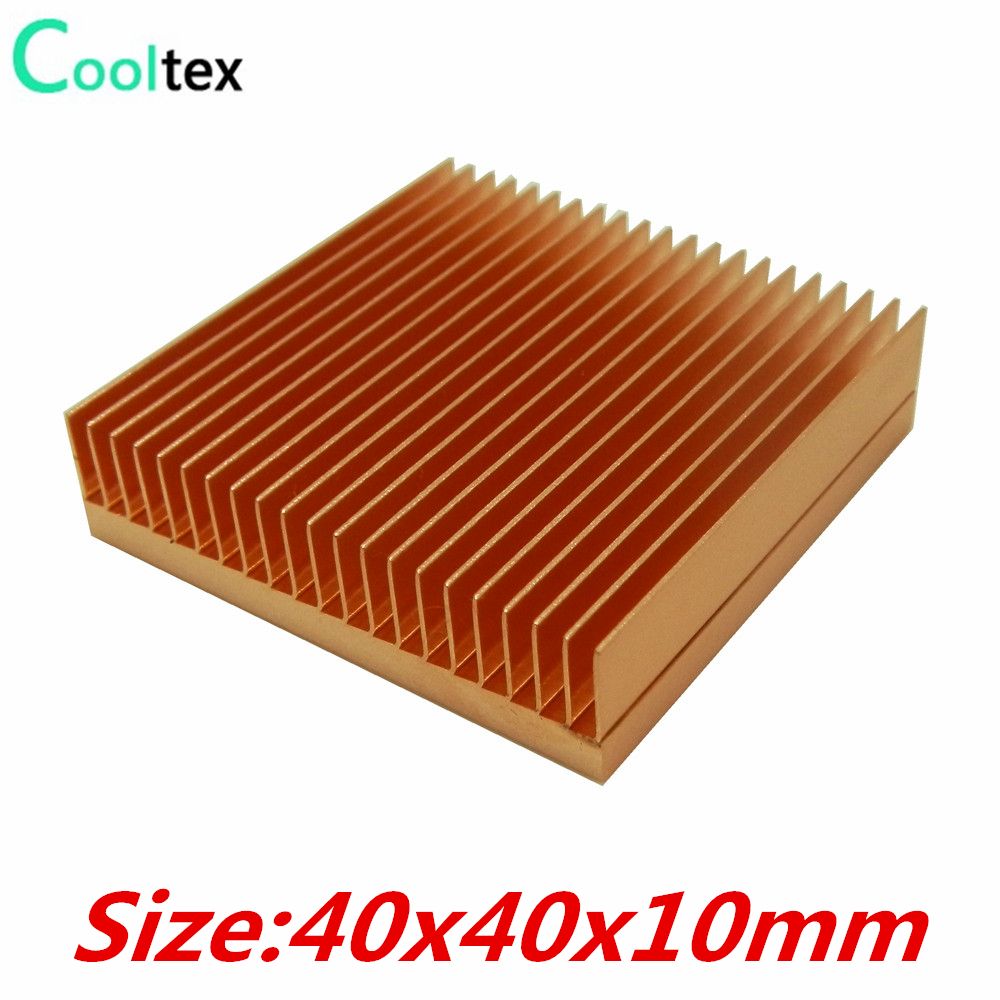 (Special Offer) Pure Copper Heatsink 40x40x10mm Skiving Fin DIY Heat Sink Radiator For Electronic CHIP LED IC Cooling Cooler 200pcs lot 0 36kg heatsink 14 14 6 mm fin silver quality radiator