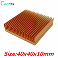 (Special Offer) Pure Copper Heatsink 40x40x10mm Skiving Fin DIY Heat Sink Radiator For Electronic CHIP LED IC Cooling Cooler