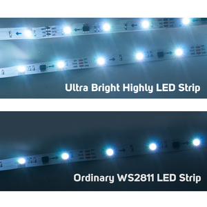Image 5 - 5M WS2811 LED Strip DC12V Ultra Bright Highly Efficient 5050 SMD RGB LEDs High Light Addressable 30/48/60leds/m White/Black PCB