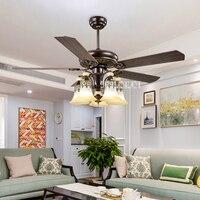 JD 865 дома 5 глава 48/52 дюйма удаленного Управление деревянный потолочных вентиляторов потолочный светильник лампа вентилятор Гостиная потол