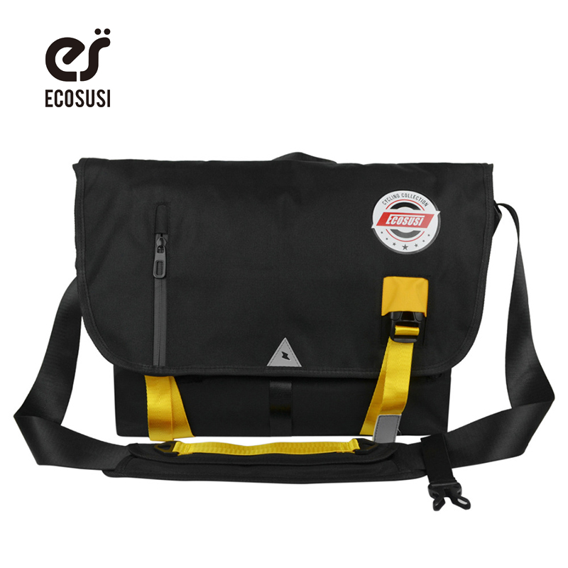 ECOSUSI Pure Color Woman's Message Bag Fixed Gear Bicycle Bag Cyclops Style Men's Crossbody Bags Men's Fashion Shoulder Bag