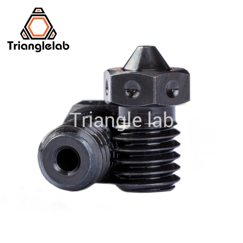 trianglelab 1PCS Top quality A2 Hardened Steel V6 Nozzles  for printing PEI PEEK or Carbon fiber filament for E3D HOTEND 1pcs hardened steel volcano nozzles for high temperature 3d printing pei peek or carbon fiber filament for e3dvolcano hotend