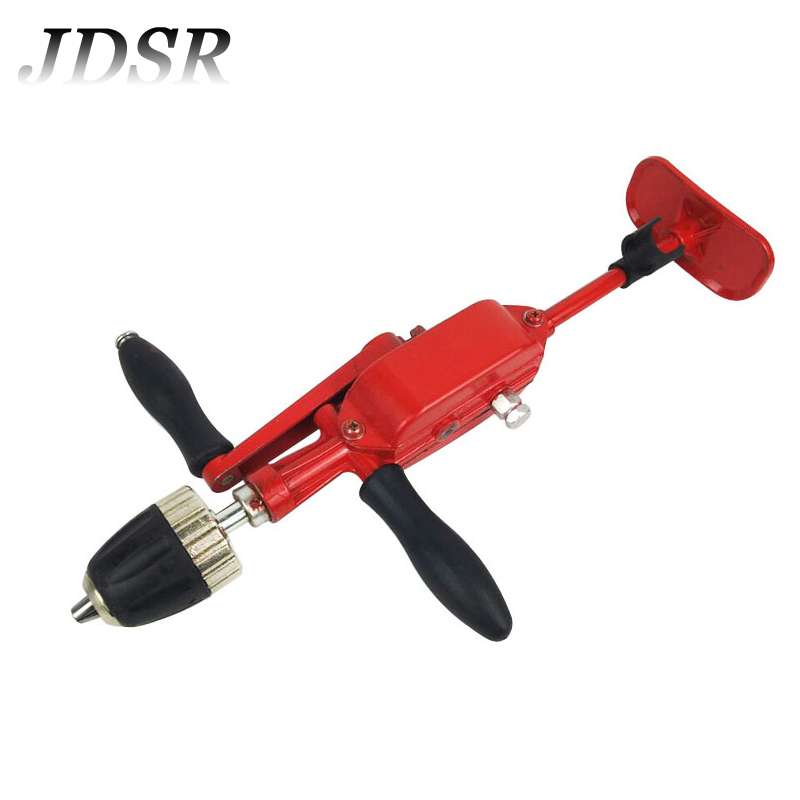 JDSR 10mm Hand Crank Mechanical Tapping Machine Automatic Hand Drill 3/8-24UNF Manual Drilling Tools / Drill Accessories semiautomatic manual punch drill power tool accessories nuclear carving manual twist drill mini semi automatic hand drill gimlet