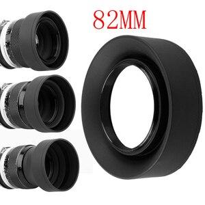 10 шт./лот 82 мм 3-ступенчатая 3 в 1 Складная резиновая складная бленда объектива для камеры canon nikon DSIR