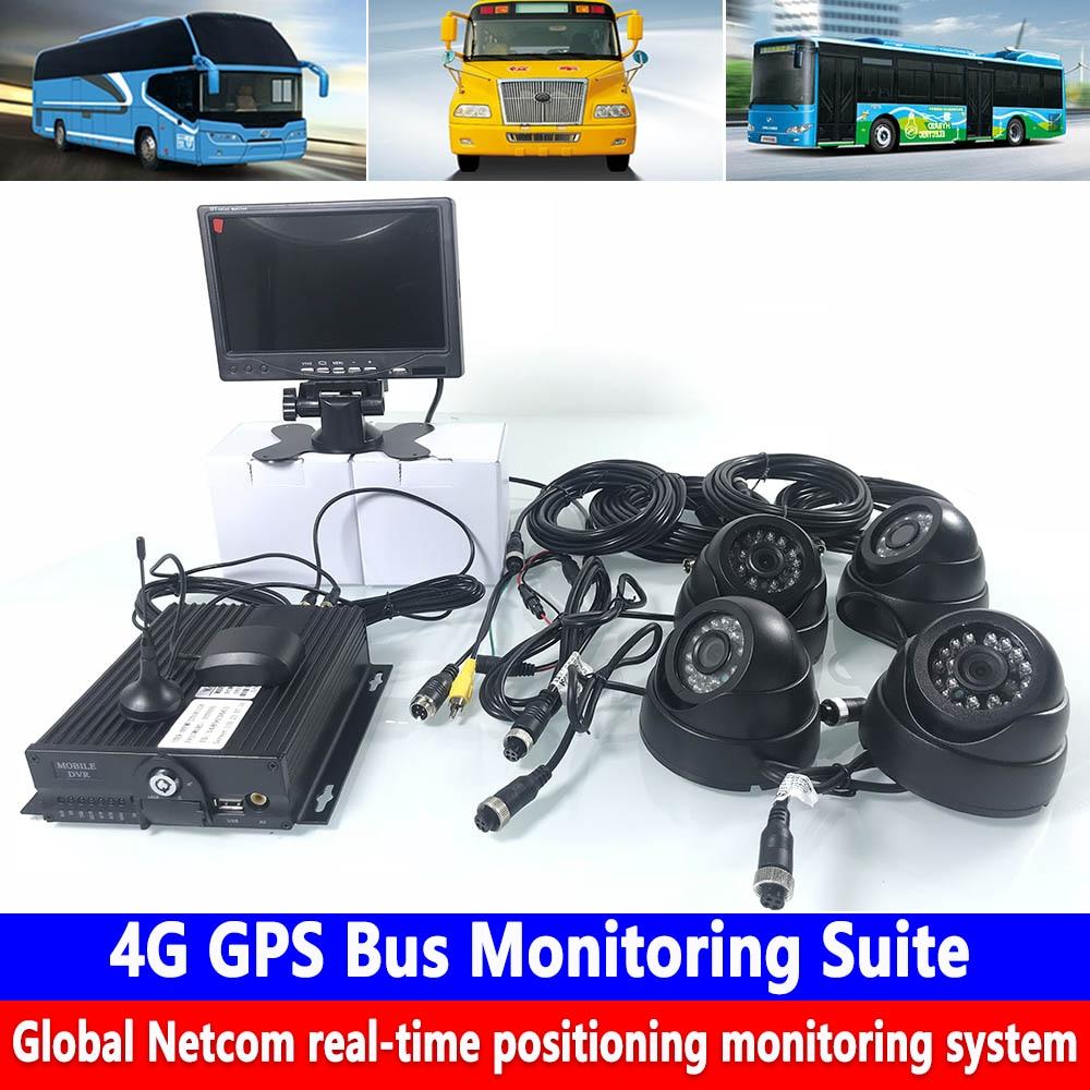4-cartão SD host de monitoramento do canal coaxial HD 960 P pixels 4G GPS kit de monitoramento de ônibus caminhão saneamento /school bus/caminhão grande