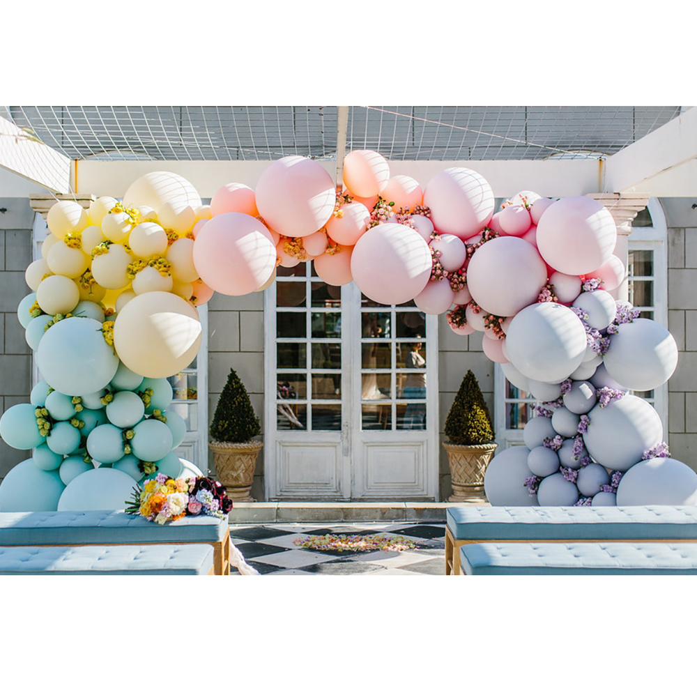 Big Multicolor Beautiful Pastel Macaron Balloon Arch Kit Wedding Party Backdrop Event Decor