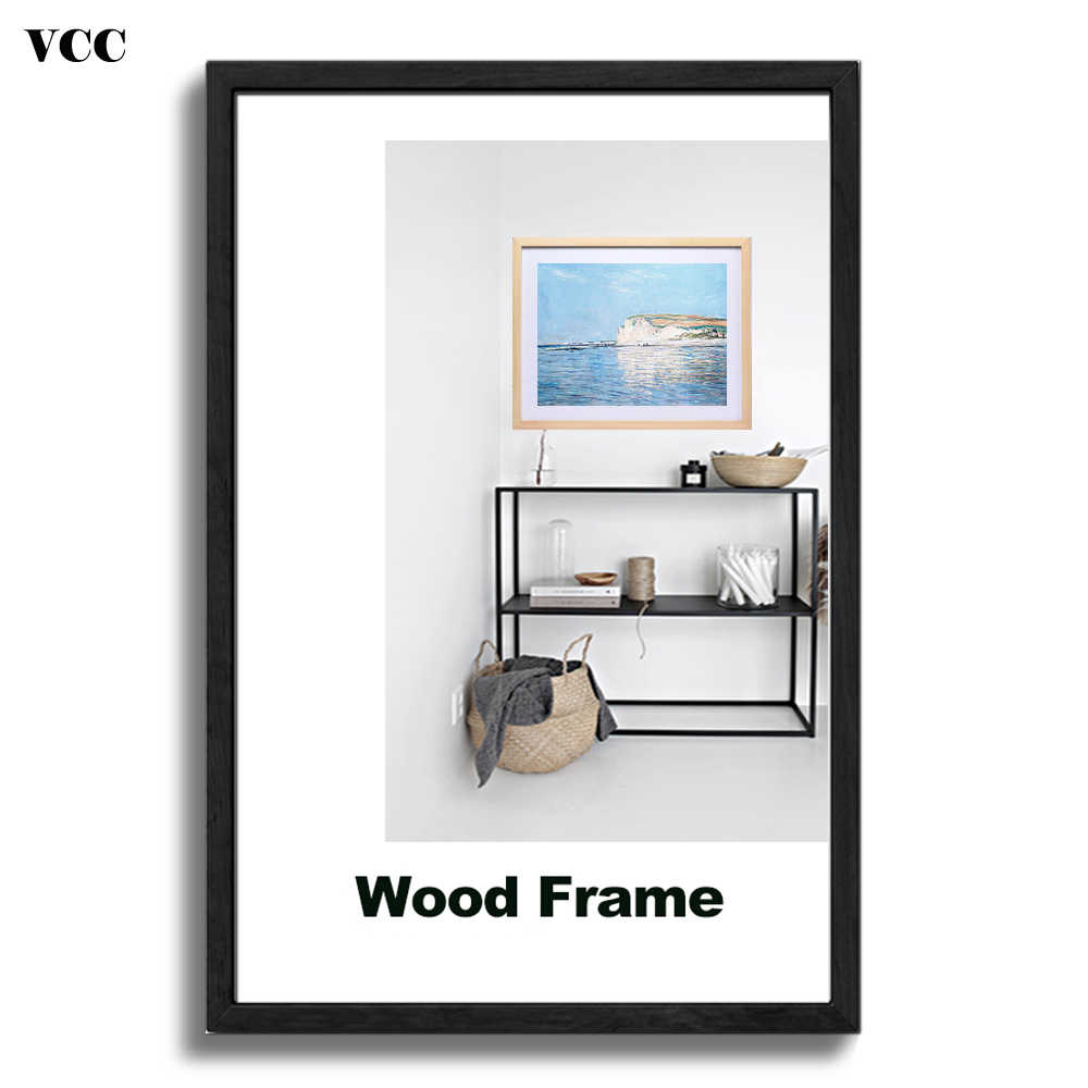 Nature Wooden Classic Picture Frame A4 A3 30X40cm Plexiglass Include Poster Photo Frames For Wall Hanging Certificate Frame