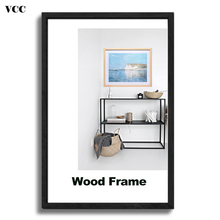 Nature Wooden Classic Picture Frame A4 A3 30X40cm Plexiglass Include Poster Photo Frames For Wall Hanging Certificate