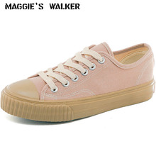 Maggies Walker Women Fashion Canvas Casual Shoes Lacing Platform Out-door Size 35-40