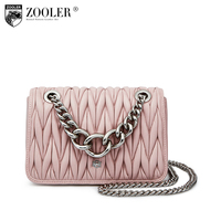 Hot ZOOLER Luxury Chain Genuine Leather Bag Woman Shoulder Bags Magnetic Buckle Designed Sheepskin Cross Body