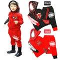 Crianças roupas de Primavera/outono bebés meninos roupa dos miúdos esporte terno vestuário infantil Algodão spiderman hoodies criança roupas menino