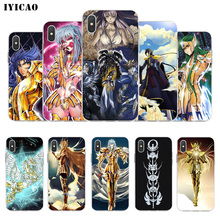 IYICAO Saint Seiya Zachte Siliconen Telefoon Case voor iPhone X XR XS MAX 6 6 s 7 8 Plus X 5 5 S SE TPU Cover