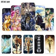 IYICAO Saint Seiya นุ่มซิลิโคนโทรศัพท์กรณีสำหรับ iPhone X XR XS MAX 6 6 s 7 8 Plus X 5 5 S SE Tpu