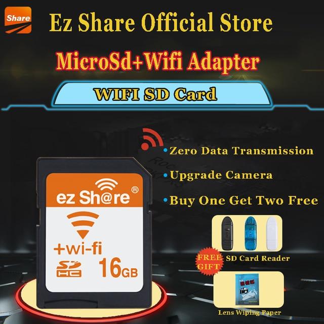 100% Первоначально Реальная Емкость Разделяемой Памяти SD Card 32 ГБ Класс 10 SDHC флэш-Памяти WI-FI SD Card картао де memoria 32 ГБ 16 ГБ 8 ГБ