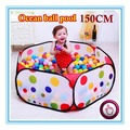 150CM KID PORTABLE FOLDING OUTDOOR & INDOOR PLAY GAME HOUSE CHILDREN POP UP TENT BALL PIT TOYS BALLS FOR POOL CHILDREN'S PLAYPEN