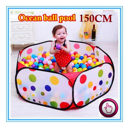 150CM KID PORTABLE FOLDING OUTDOOR & INDOOR PLAY GAME HOUSE CHILDREN POP UP TENT BALL PIT TOYS BALLS FOR POOL CHILDRENS PLAYPEN