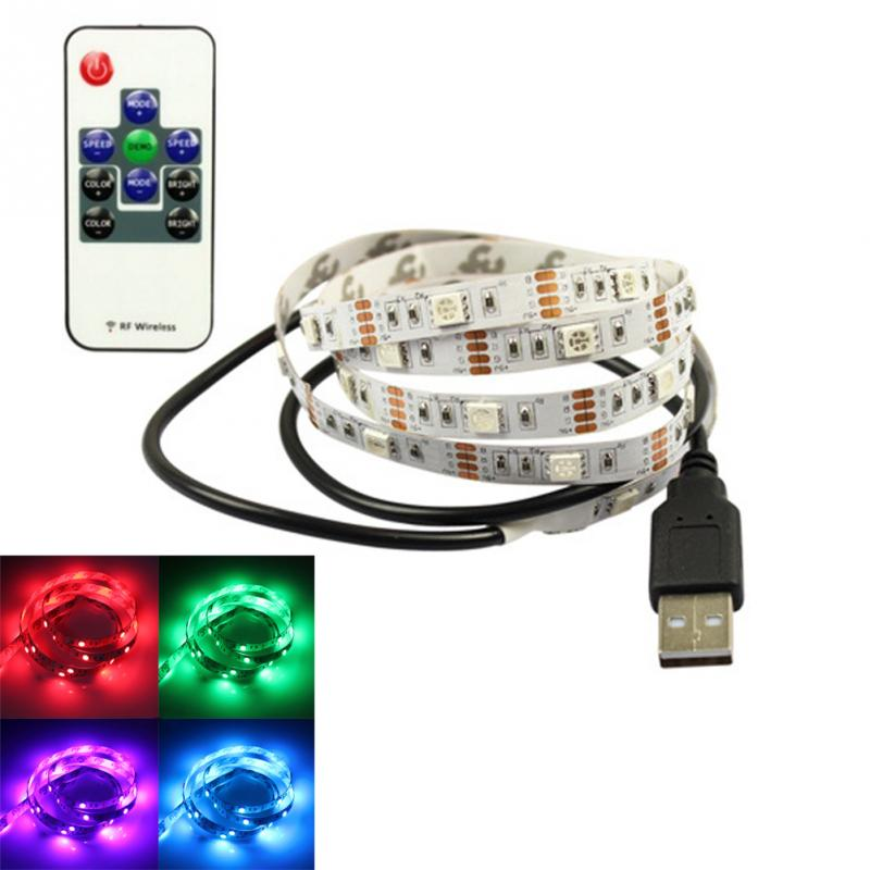 1m Usb Supply Led Strip Tape Tv Background Lighting Diy Decorative Lamp Camping Lights Bicycle Festival In Holiday From