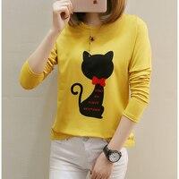 Plus Size 5xl Long Sleeve T Shirt Women T Shirts Cotton O Neck Tee Shirt Femme