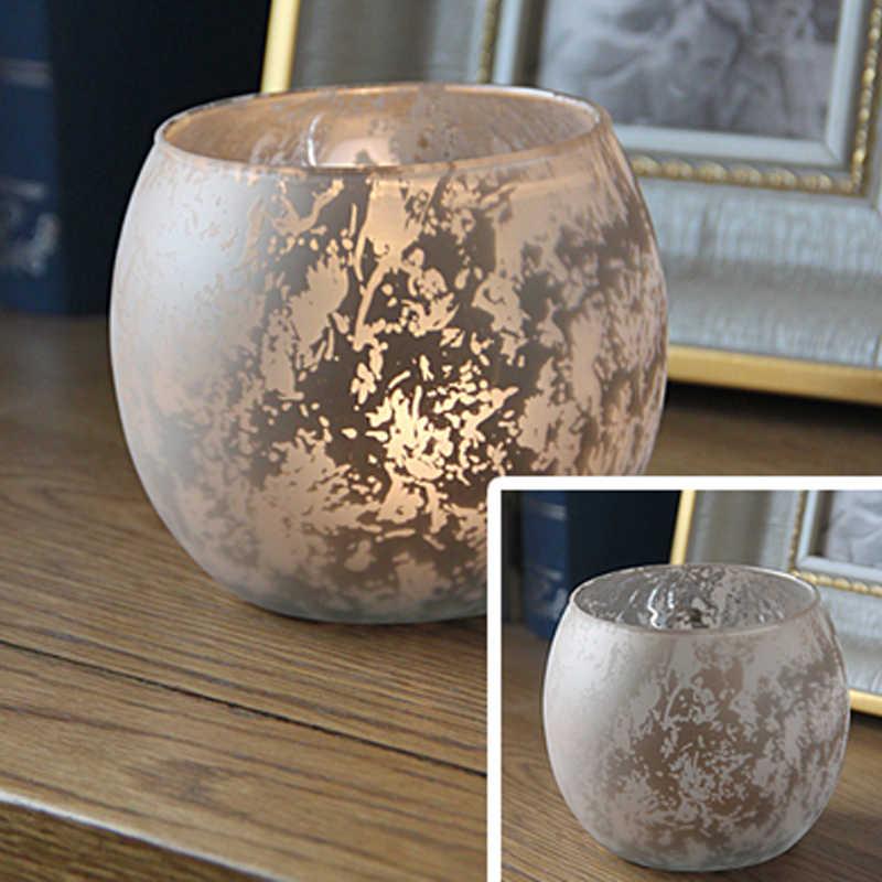 Мини-стеклянные свечи для ароматерапии, горелка для масла, подсвечник, печь для эфирного масла, украшение для домашнего офиса, 3 цвета