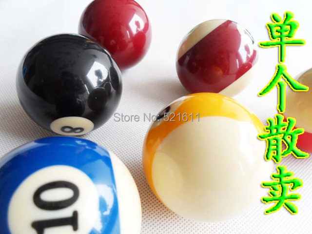 "Free shipping 2pcs/lot Single Ball 57.2mm Resin American Sandardal International Billiard Balls 2 1/4"" billiard balls"
